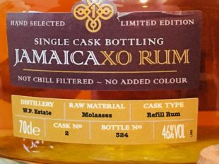 West Indies Rum & Cane Merchants Jamaica XO Rum review by the fat rum pirate